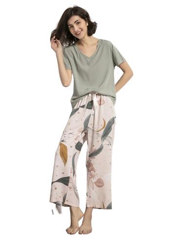 RAISING LITTLE multi Emille Loungewear Pants Set 000DBAAB7855A4GS_1
