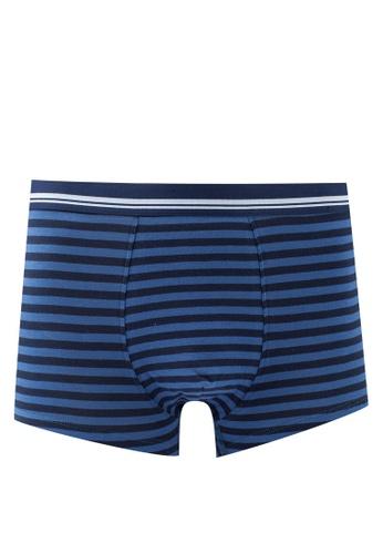 Mango Man navy Striped Cotton Boxer Shorts 5AD06US0DC94E5GS_1