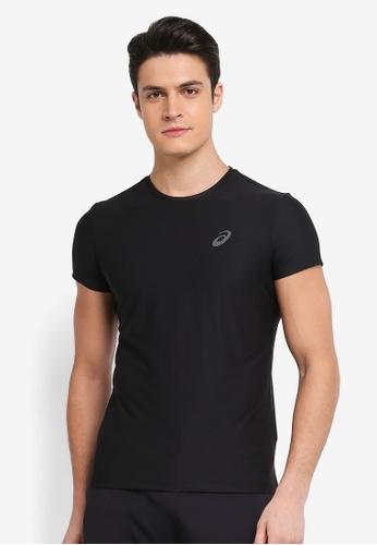Asics black Short Sleeve Top AS989AA0SVQNMY_1