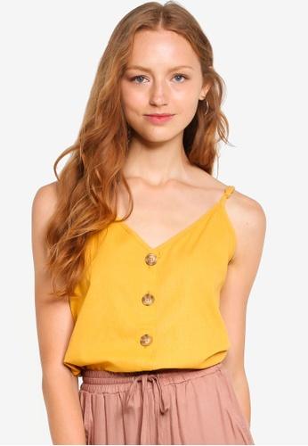 Cotton On 金色 細肩帶上衣 02B4EAA4CDE4F9GS_1