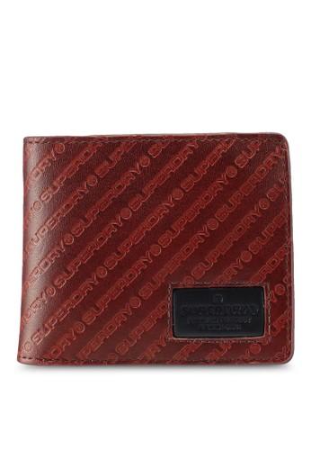 Superdry brown Badgeman Aop Wallet 52AE6AC07A3F07GS_1