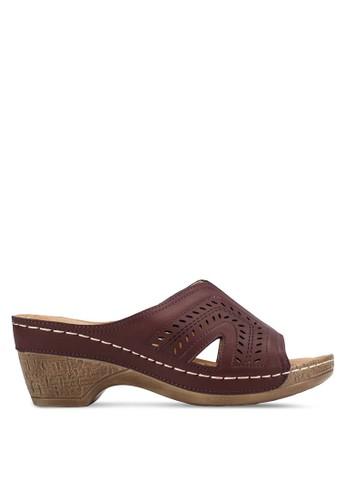 寬鞋帶粗低跟鞋,esprit台灣 女鞋, 中跟