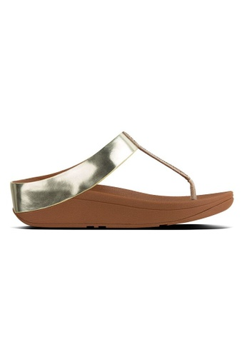 32979611c9f42c FitFlop gold Fitflop Fino Crystal Toe-Thong Sandals (Gold)  3F51CSH0857576GS 1