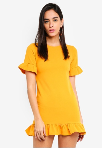 MISSGUIDED 黃色 Frill Detail Dress EED0DAAF76FD26GS_1