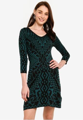 Desigual green Vest Deben Printed Dress A7E89AA8A99D1DGS_1
