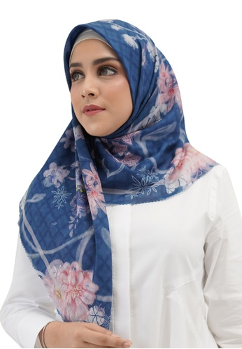 Buttonscarves blue Buttonscarves Sofya Voile Square Bijou 5A2AFAA8768F33GS_1
