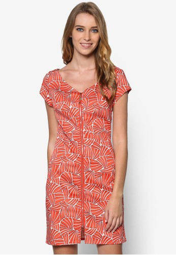 Bosanovaesprit 品牌 印花拉鍊直筒洋裝, 服飾, 洋裝