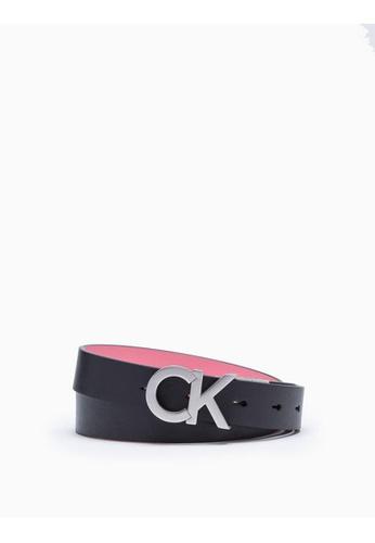 Calvin Klein black Logo Buckle Leather Belt C1A6EAC9FC142CGS_1