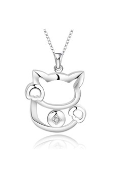 925 Silver Plated Kitty Cat Necklace