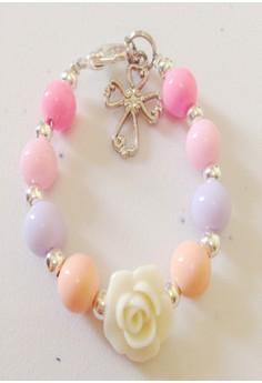 Pastel Color Bracelet with Flower