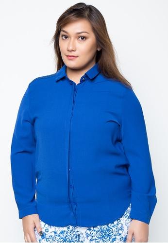 Maldita X blue Plus Size Lilo Long Sleeve Shirt MA587AA53APYPH_1
