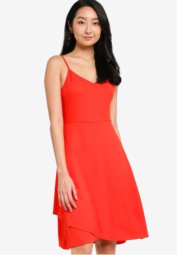 ZALORA BASICS orange Layer Detail Midi Dress D8493AAFEF00F7GS_1