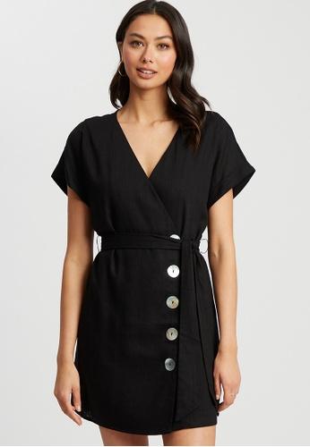 The Fated black Jemma Mini Dress 9DAD7AA51DC94AGS_1