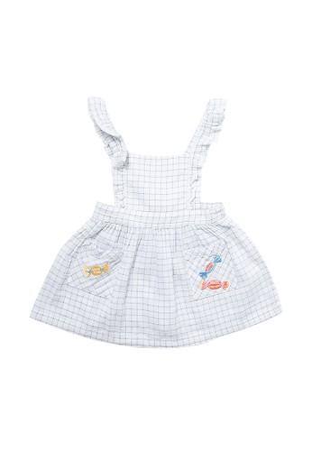Gingersnaps GINGERSNAPS JELLY BEAN BABY DRESS BLUE/WHITE 4BDFFKA20A124FGS_1