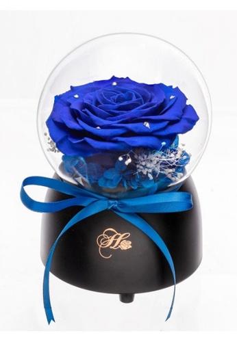 Her Jewellery blue Everlasting Preserved Rose - Only Love Music Globe (Deep Blue) 88C2BHL9B0134FGS_1