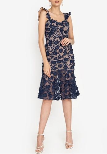 ZALORA OCCASION navy Crochet Lace Sweetheart Neckline Dress A3943AA0EC7900GS_1