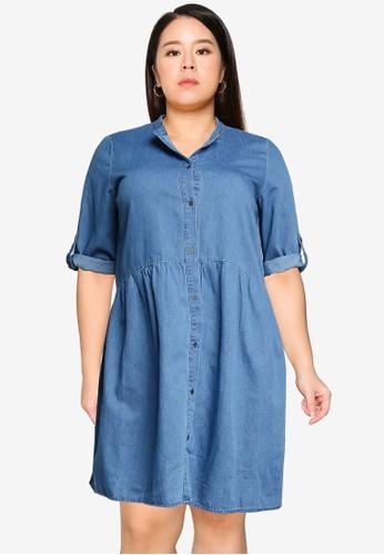 Only CARMAKOMA blue CARCHICAGO LIFE DNM 3/4 DRESS 75958AABCC508CGS_1