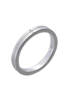 Dot and Cross Silver Ring for Women lr0009f