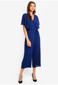 17df5a2f524 Dorothy Perkins Plain Chiffon Cape Jumpsuit S  99.90. Sizes 6 10 12 · Dorothy  Perkins navy Tropical Navy Tie Front Playsuit 283A1AAE306286GS 1