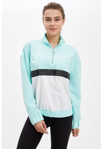 DeFacto 藍色 Funnel Neck Sweatshirt 6EC81AAD1F63CFGS_1