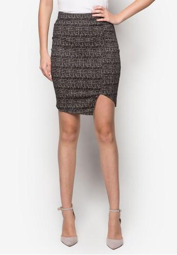 Adlina Checks Pencil zalora鞋Skirt, 服飾, 迷你裙
