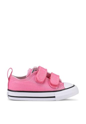 Converse pink Chuck Taylor All Star 2V Ox Sneakers B70F6KS755325BGS_1