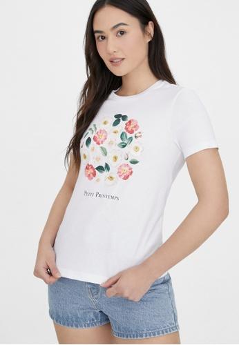Pomelo white Sustainable Cotton Petit Printemps Tee - White B8A5DAA9330283GS_1