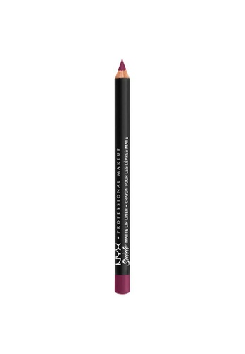 NYX Professional Makeup purple NYX Professional Makeup Suede Matte Lip Liner - SMLL 58 - GIRL, BYE F7550BE59A3158GS_1
