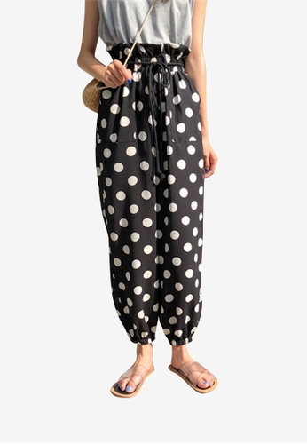 Lara multi Women's Polka Dot Pants 24174AAC1BA62BGS_1
