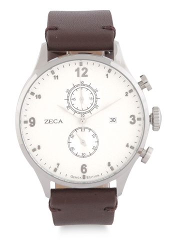 ZECA brown and silver Zeca Watches Man Fashion - 2017M Brown ZE074AC0WDAMID_1