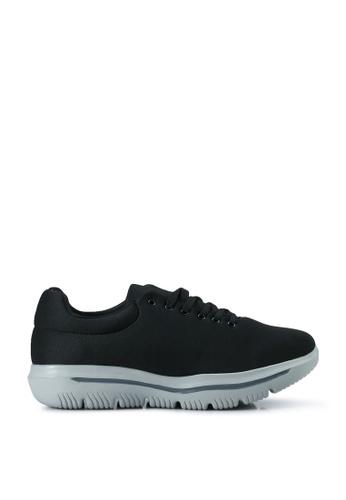 UniqTee 黑色 Lace Up Sport Sneakers 2BFC3SH45178E8GS_1