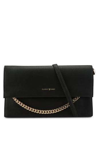 PLAYBOY BUNNY black Clutch Sling Bag 73312AC06A563EGS_1