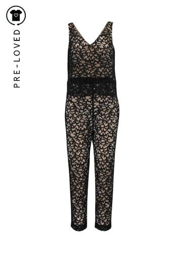 Trina Turk black Pre-Loved trina turk Lace Jumpsuit. B2186AA0FB5DCEGS_1