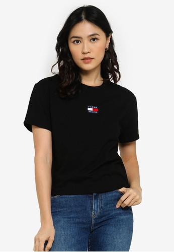 Tommy Hilfiger black Badge Crew Neck T-Shirt - Tommy Jeans B85BCAA0A88F7BGS_1