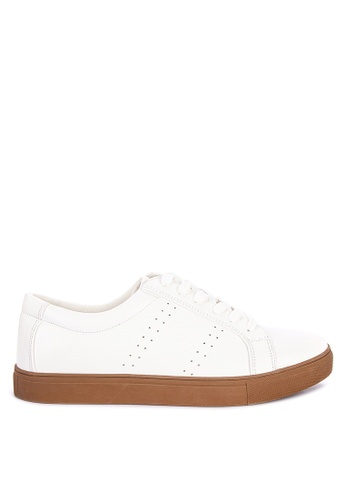 BENCH white Lace Up Sneakers 2F08FSHD515656GS_1