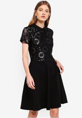 Dorothy Perkins 黑色 Black And Gold Lace Dress AB4C1AA7FC6CEDGS_1