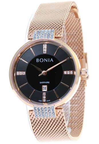 BONIA gold Bonia B10442-2532 -  Jam Tangan Analog Wanita - Rosegold 4C785AC49BE65BGS_1