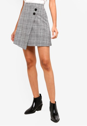 ESPRIT grey Woven Mini Skirt E806BAAE6E2307GS_1