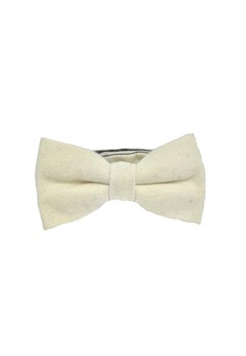 Splice Cufflinks Dolly Series Creamy White Wool Pre-tied Bow Tie SP744AC29QOOSG_1