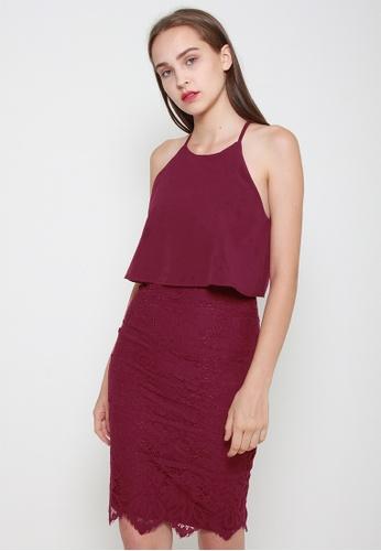 Leline Style red Elisa Lace Dress C5236AA7BAF5A1GS_1