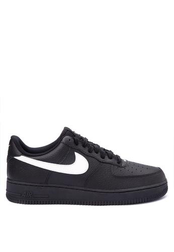 Nike black Men's Nike Air Force 1 '07 Shoes NI126SH0KT4ZPH_1