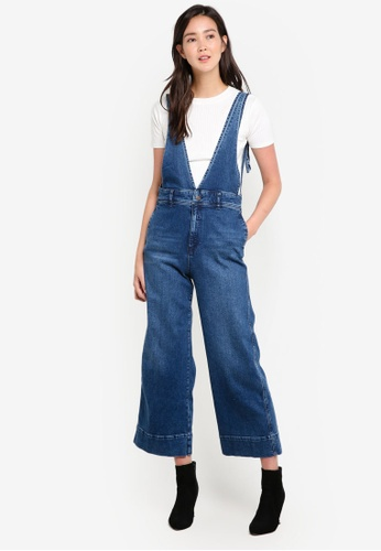 Free People blue A Line Overalls FR659AA24GJNMY_1