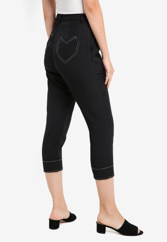 Something Borrowed black Heart Pocket Cigarette Trousers 06A96AA506C816GS_1