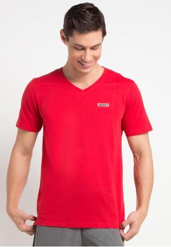 2GO red Half Sleeve V-Neck T-Shirt 2G138AA0V5TBID_1