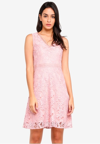 Dorothy Perkins pink Petite Blush F&F Dress E1741AAF91A3E7GS_1