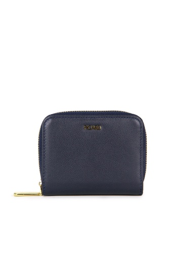 Picard navy Picard Genesis Small Wallet with Center Zip in Navy 131F9AC3DB008DGS_1
