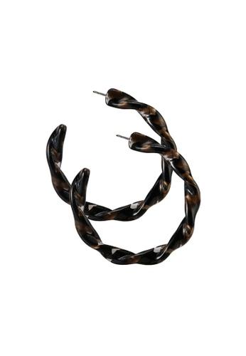 niko and ... brown Hoop Earrings E56D8ACE7D3912GS_1