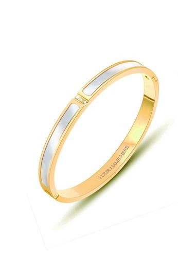 CELOVIS gold CELOVIS - Colette Tri-Dias Mother of Pearl Bangle in Gold 7A570AC4A7779FGS_1