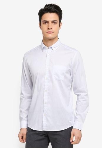 ESPRIT blue Woven Long Sleeve Shirt ES374AA0T18NMY_1