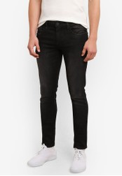 Indicode Jeans black Pittsburgh Skinny Fit Stone Washed Jeans IN815AA0ROM1MY_1